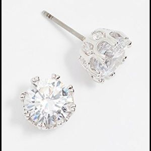 CZ by Kenneth Jay Lane Round CZ New Silver Jewelry